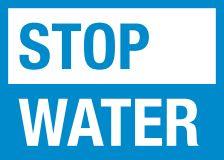 stop water
